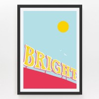Evermade Brighton Pier Framed Print - Red Candy