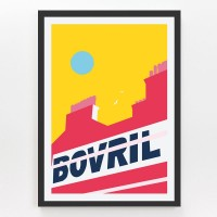 Evermade Brixton Bovril Sign Framed Print - Red Candy