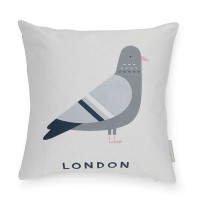Evermade London Pigeon Cushion – cartoon pigeon print cushion