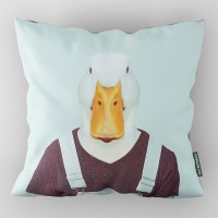 Evermade Zoo Portrait Cushion - Duck - quirky bird printed pillow