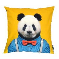 Evermade Zoo Portrait Cushion (Panda) - Red Candy