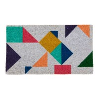 Bloc Colour Doormat - Red Candy