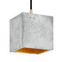 B1 Cubic Pendant Light – grey and gold concrete pendant light