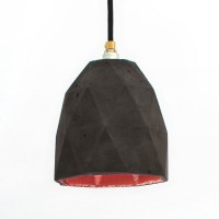 T1 Triangle Pendant Light – Charcoal & Copper
