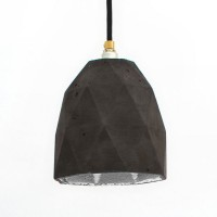 T1 Triangle Concrete Pendant Light (Charcoal & Silver) - Red Candy