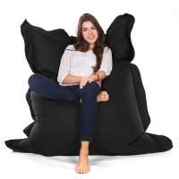 Oxford Bean Bag – black designer outdoor bean bag