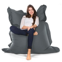 Oxford Bean Bag (Grey 3 Sizes) - Red Candy