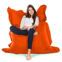 Oxford Bean Bag  (Orange 3 Sizes) - Red Candy