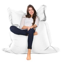 Oxford Bean Bag – white designer outdoor bean bag