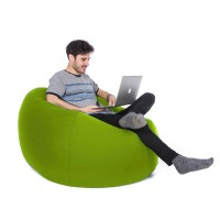 Retro Classic Bean Bag – lime green retro outdoor bean bag
