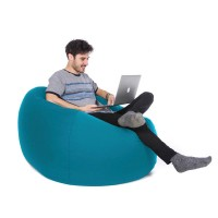 Retro Classic Indoor Outdoor Bean Bag (Sky Blue 3 Sizes) - Red Candy