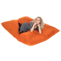 Slab Indoor Outdoor Bean Bag (Orange) - Red Candy