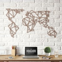 Geometric World Map (Bronze) - Red Candy
