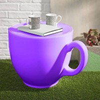 Tea Cup Stool - Purple - novelty teacup seat - designer chair