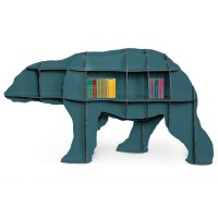 Ibride Junior Bear Bookcase (Blue) - Red Candy