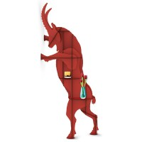 Ibride Fausto Ibex Wall Storage (Red) - Red Candy