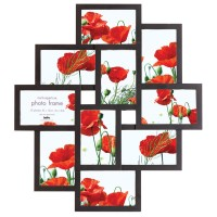 Maggiore V Multi Picture Frame - designer black multi photo frame