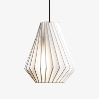 IUMI Hektor Pendant Light - white plywood hanging lamp