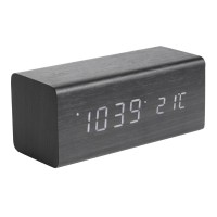 Karlsson Block LED Clock (Black) - Red Candy