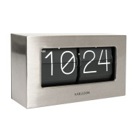 Karlsson Boxed Flip Clock Small - Steel - metal flip clock