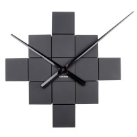 Karlsson DIY Cubic Wall Clock - Black - modular wall clock