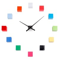 Karlsson DIY Cubic Wall Clock (Multi Colour) - Red Candy