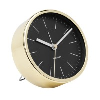 Karlsson Gold Alarm Clock Minimal - Black - modern 10cm clock