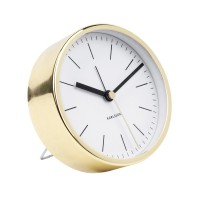 Karlsson Gold Alarm Clock Minimal - White - metallic alarm clock