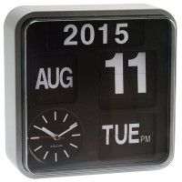 Karlsson Mini Flip Wall Clock (Silver) - Red Candy