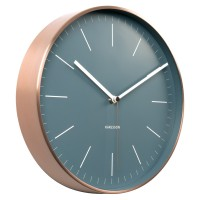 Karlsson Minimal Copper Clock - Blue - designer wall clock