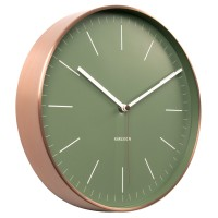 Karlsson Minimal Copper Clock (Green) - Red Candy