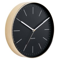 Karlsson Minimal Gold Clock - Black - minimalist wall clock