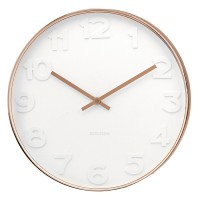 Mr White Numbers Copper Clock - Small - Karlsson