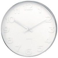 Mr White Numbers Wall Clock - Large - white designer timepiece