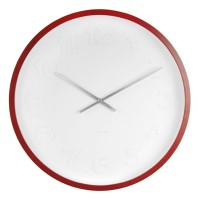 Mr White Numbers Wooden Clock (Small) - Red Candy