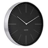 Karlsson Normann Wall Clock - Black - minimalist wall clock