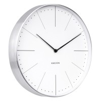 Karlsson Normann Wall Clock - White - minimalist station clock