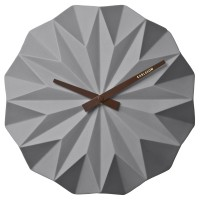 Karlsson Origami Wall Clock - Grey - decorative folded wall clock