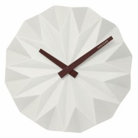 Karlsson Origami Wall Clock - White - faceted designer clock
