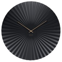 Karlsson Sensu Clock Large (Black) - Red Candy