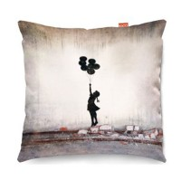 Banksy Balloons Sofa Cushion (2 Sizes) - Red Candy