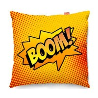 Comic Boom Orange Sofa Cushion (2 Sizes) - Red Candy