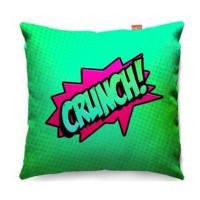 Comic Crunch Green Sofa Cushion - designer green pop art pillow