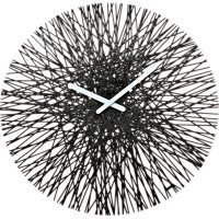 Koziol Silk Wall Clock (Black) - Red Candy