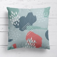 Artistic Blue and Red Cushion - Red Candy