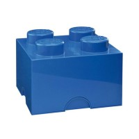 Lego Storage Brick - Dark Blue - 2 Sizes Available - storage box