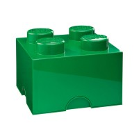 Lego Storage Brick - Green - 2 Sizes Available - storage box