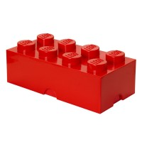 Lego Storage Brick (Red, 2 Sizes Available) - Red Candy