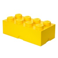 Lego Storage Brick - Yellow - 2 Sizes Available - stackable box