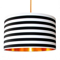 Fabric Lampshade - Circus Stripes & Gold - Love Frankie